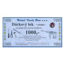 Dárkový šek v hodnotě 1000Kč