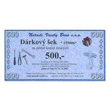 Dárkový šek v hodnotě 500,-Kč