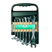 Sada klíčů na převlečné matice s kloubem 7d 8-17mm