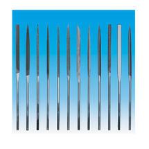 Sada pilníků jehlových 140mm/sek2 12d