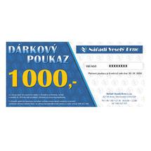 Dárkový elektronický poukaz v hodnotě 1000,- Kč