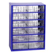 Skříňka 6706 12xB 420mm modrá