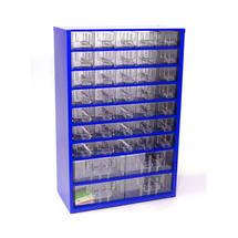 Skříňka 6743 35xA, 4xB modrá