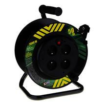 Prodlužovací kabel buben 50m/230 plast, nepohyblivý střed