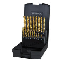 Sada vrtáků 1-10mm po 0,5mm HSS-G 19d Tin