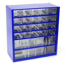 Skříňka 6731 20xA 2xB 1xC 327mm modrá