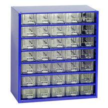 Skříňka 6730 35xA 327mm modrá