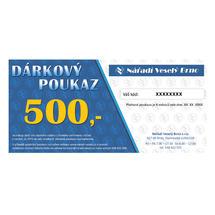 Dárkový elektronický poukaz v hodnotě  500,- Kč