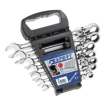 Sada klíčů OP ráčnových s kloubem 7d 8-19mm Cr-V