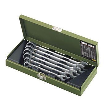 Sada klíčů OP ráčnové 7d 8-19mm