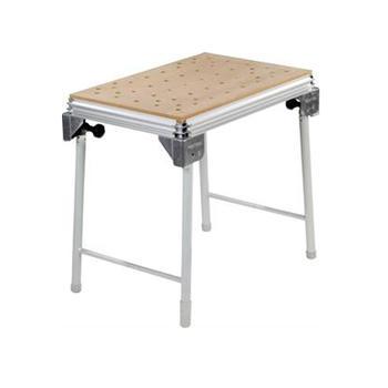 Stůl s děrovanou deskou a sklápěcími nohami