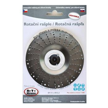 Rašple rotační lehká 115mm - 2,5mm