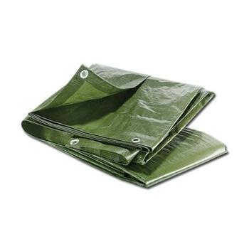 Plachta s oky 120g zelená  8 x10m
