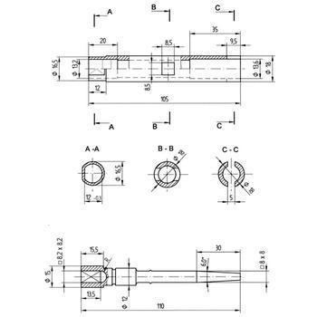 Klíč na rozvaděče kombi energetický 3015  - 2